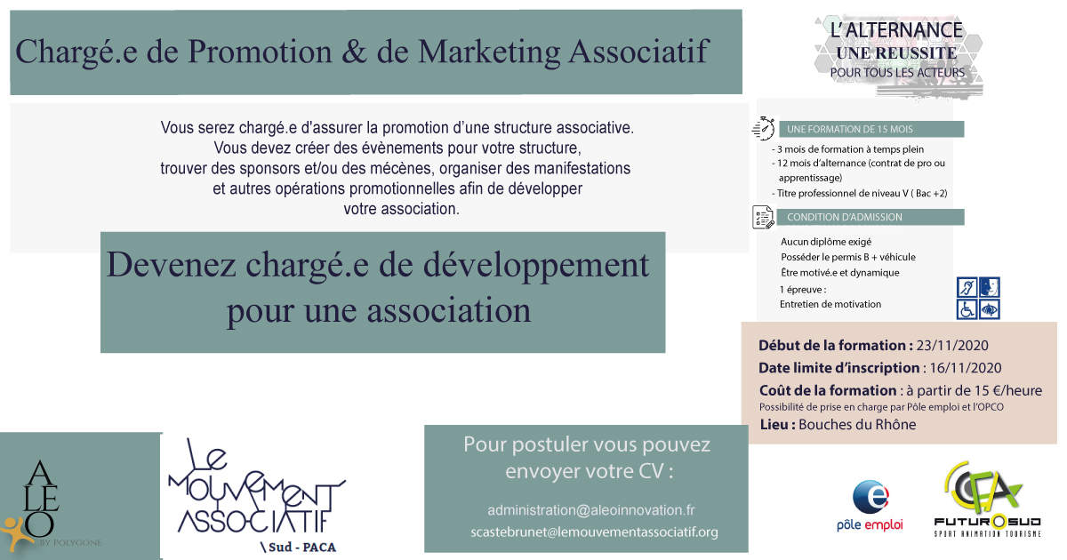 Chargé.e de promotion marketing associatif